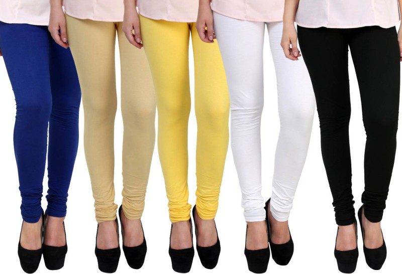 FnMe Women's Multicolor Leggings(Pack of 5)