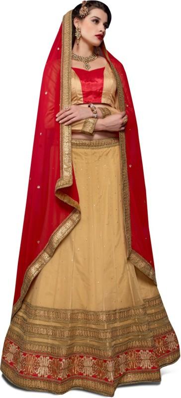 Melluha Fashion Embroidered Women's(Beige, Size: Free)