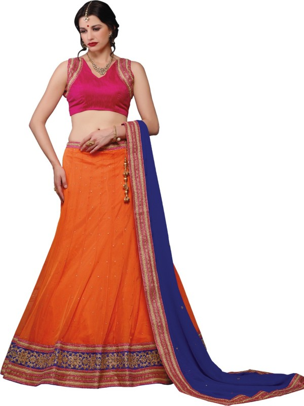 Melluha Embroidered Women's(Orange, Size: Free)