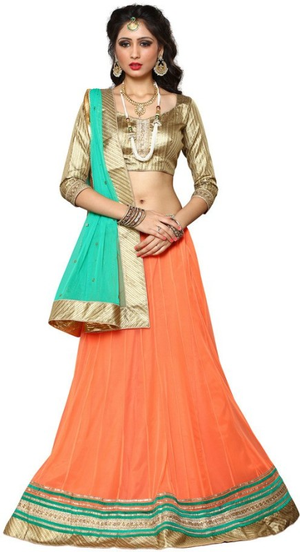 Yosshita & Neha Embroidered Women's(Orange, Size: Free)