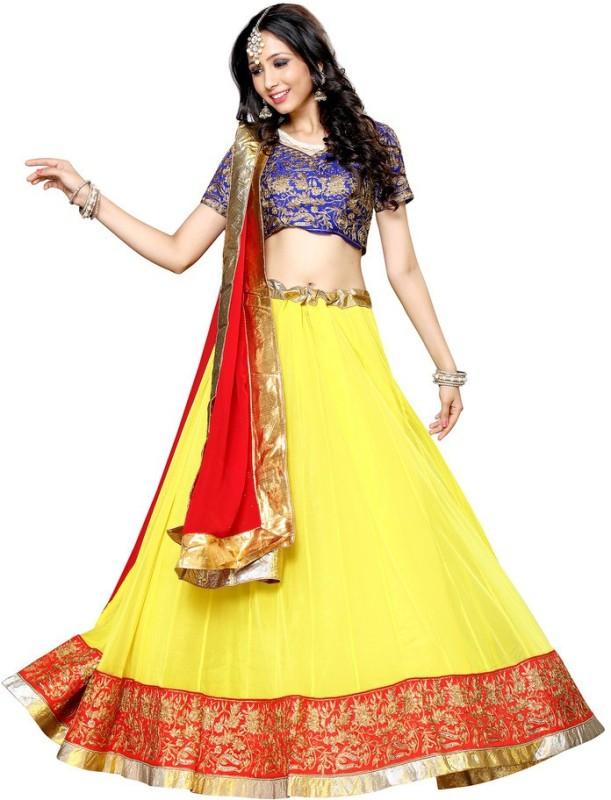 Yosshita & Neha Embroidered Women's(Yellow, Size: Free)