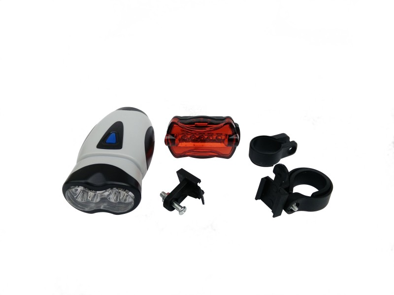 CycLex Bright LED Front Rear Light Combo(Black, Grey)