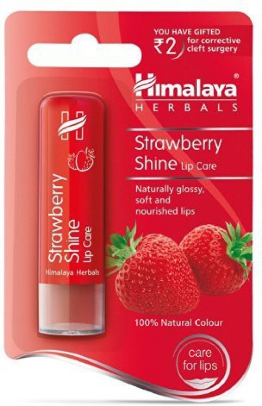 Himalaya Herbals Strawberry Shine Lip Care Strawberry(Pack of: 1, 4.5 g)