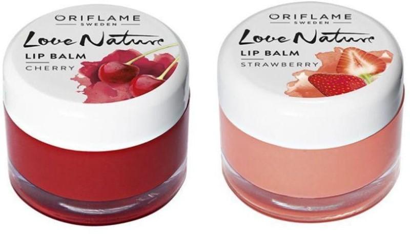 Oriflame Sweden Love Nature Lip Balm-Cherry & Strawberry(Pack of 2) Cherry, Strawberry(Pack of: 2, 14 g)