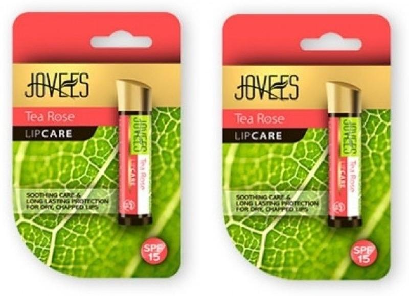 Jovees Tea Rose Lip Care Pack Of 2 Rose, Tea(Pack of: 2, 8 g)