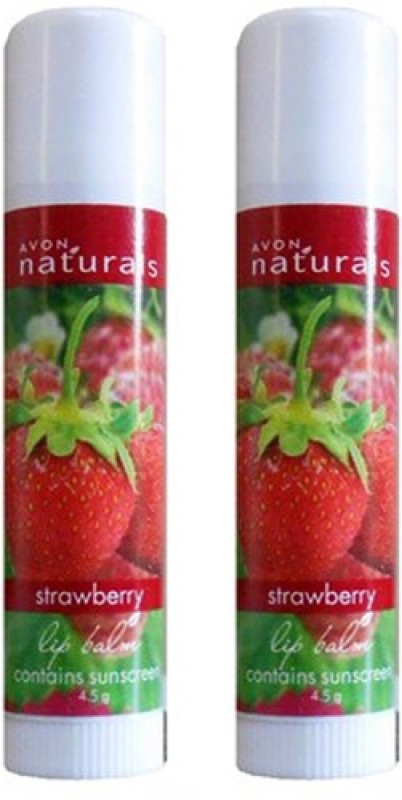 Avon Naturals Strawberry Lip Balm Combo Pack (4.5g each) Strawberry(9 g)