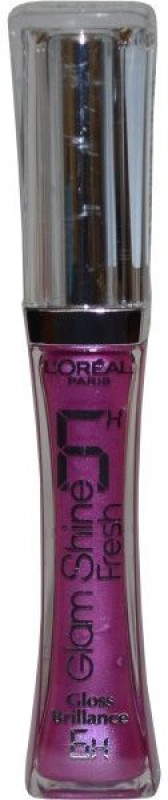 L'Oreal Paris Paris Glam Shine 6Hours Lip Gloss(6 ml, Fresh Cassis - 118)
