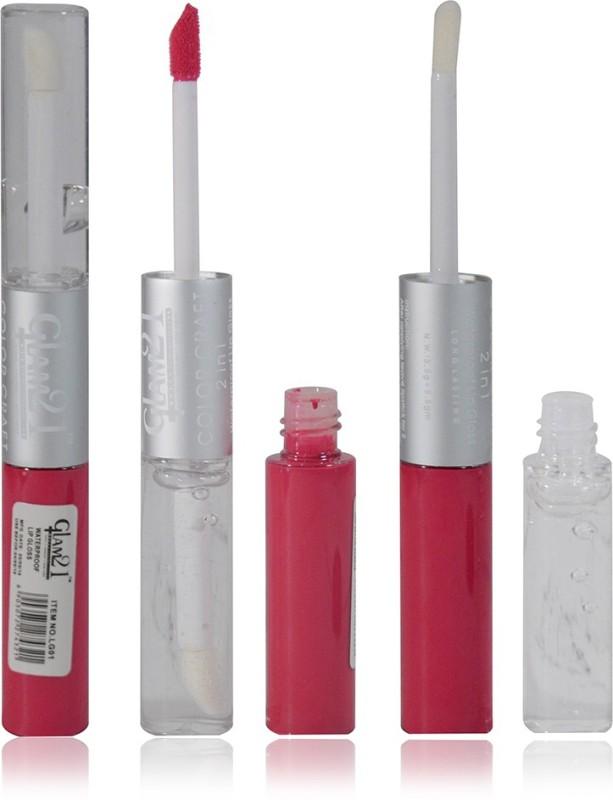 Glam 21 2in1 Longlasting Waterproof pink Lip Gloss Pack of 1(11 g, LG-06)