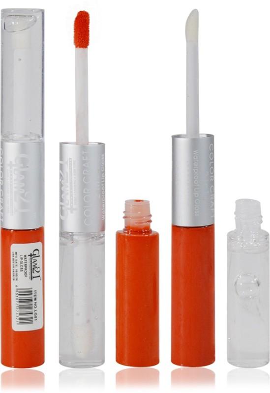 Glam 21 2in1 Longlasting Waterproof Orange Lip Gloss Pack of 1(11 g, LG-07)