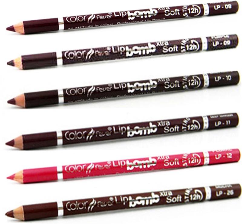 Color Fever Magenta Colour Lip Liner Pencil 185(Multicolor,)