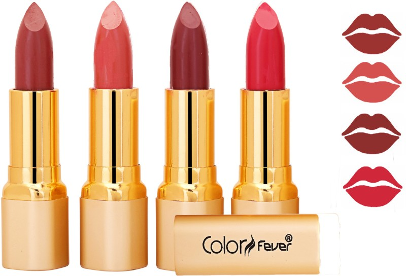 Color Fever Exclusive Long Lasting Intense Wear Matte Lipstick (Multicolor) 62(Neon, Mauve, Peach, 16.8 g)