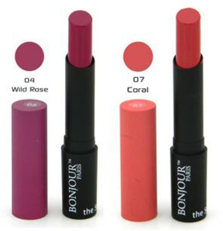 Bonjour Paris Color Cap Lipstick 5(Purple, Peach, 8.4 g)