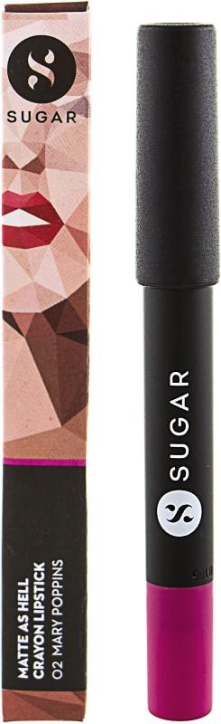 Sugar Matte as Hell Crayon Lipstick- Mary Poppins(Pink Plum, 2.8 g)