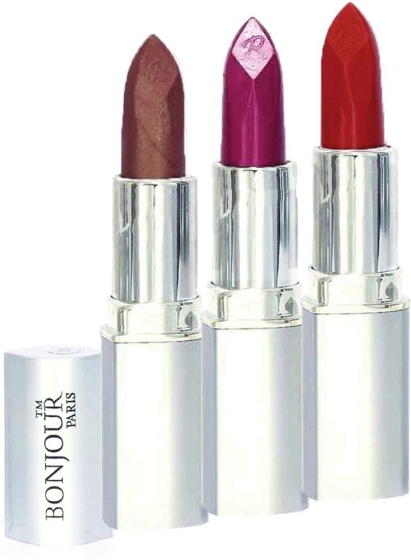 Bonjour Professional 0343 Coffee Wine Brick Red Lipstick(Coffee, Wine, Brick Red, 11.4 g)
