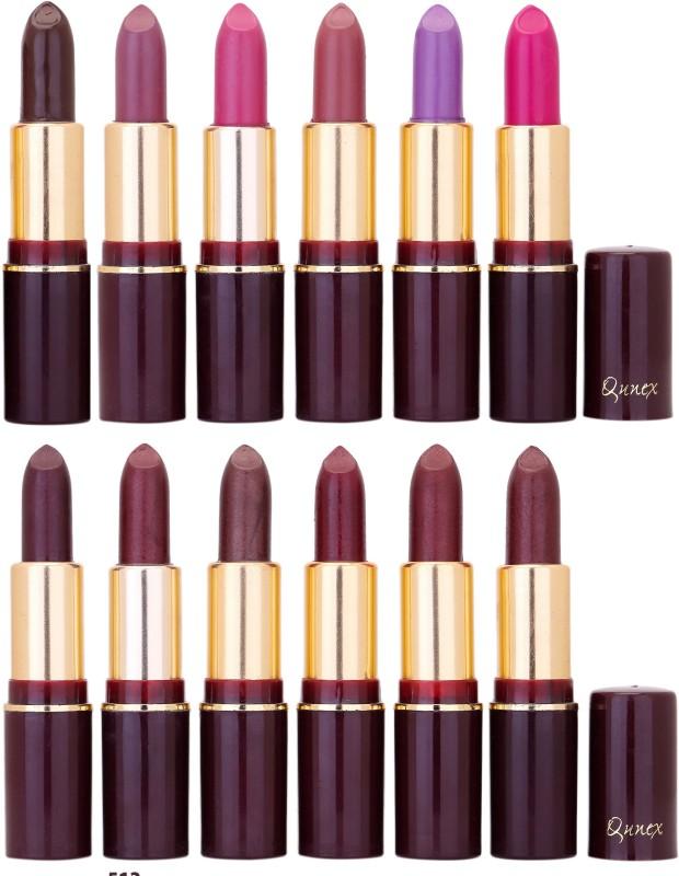 Qunex Rich Colour Lipstick Wholesale Combo 1105201618(Multicolor,, 48 g)