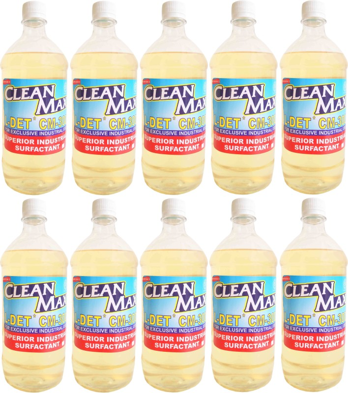 Cleanmax CM-300 1L -Pack of 10- CONCENTRATED MULTIPURPOSE CLEANER FOR FLOORS, DISHWASH, CARWASH, TOILETS, KITCHEN None Liquid Detergent(1 L)