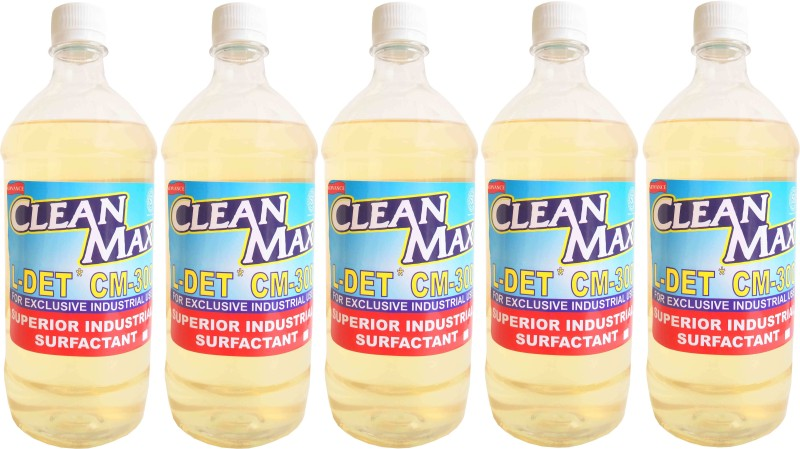 Cleanmax CM-300 1L -Pack of 5- CONCENTRATED MULTIPURPOSE CLEANER FOR FLOORS, DISHWASH, CARWASH, TOILETS, KITCHEN None Liquid Detergent(1 L)