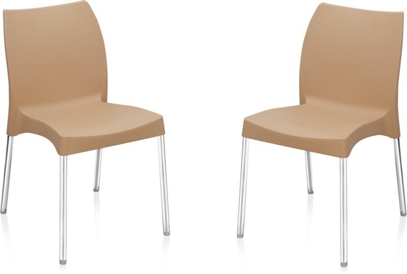 Nilkamal Plastic Living Room Chair(Finish Color - Brown)