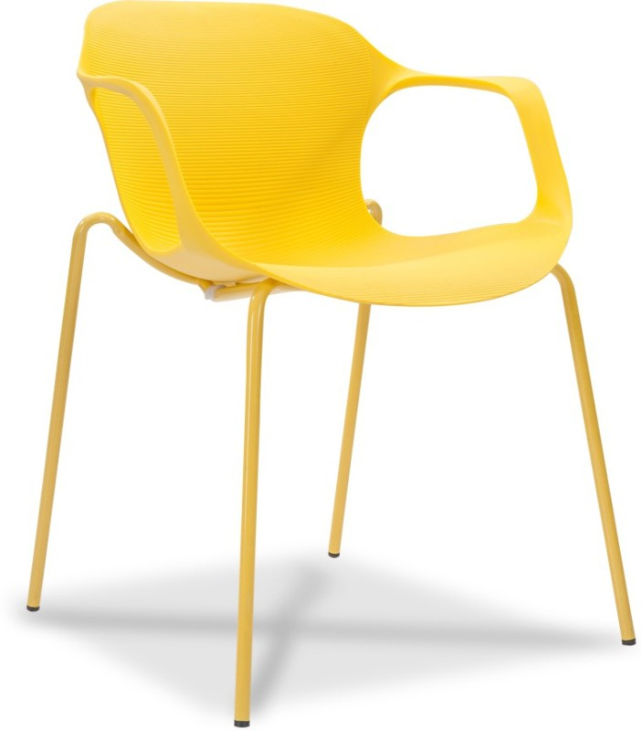Durian ZANE-YELLOW Synthetic Fiber Living Room Chair(Finish Color - Lemon Yellow)