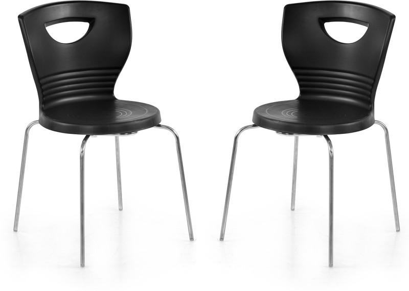 Nilkamal Plastic Living Room Chair(Finish Color - Black)