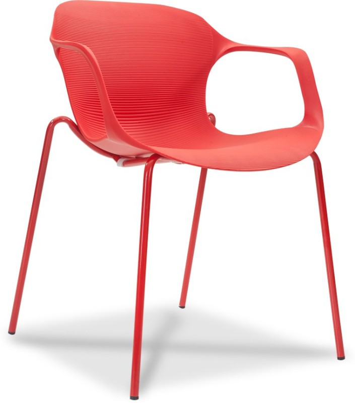 Durian ZANE-RED Synthetic Fiber Living Room Chair(Finish Color - Crimson Red)