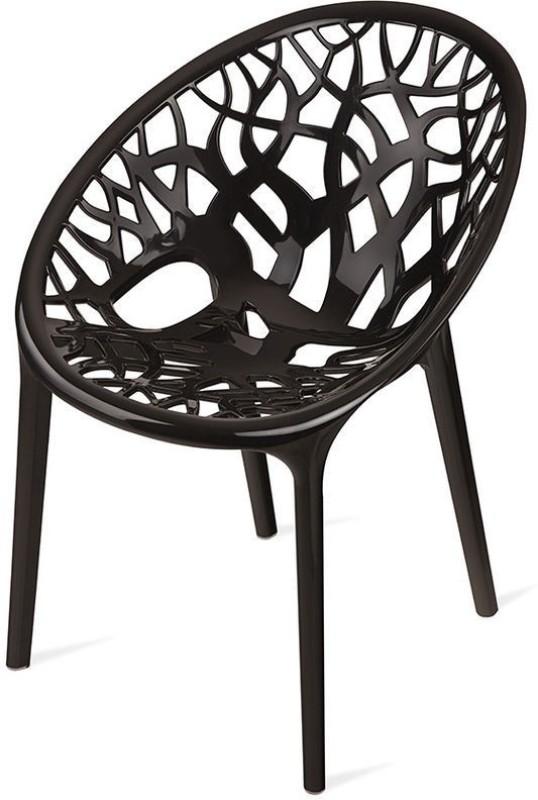 Nilkamal Crystal Plastic Living Room Chair(Finish Color - Black)