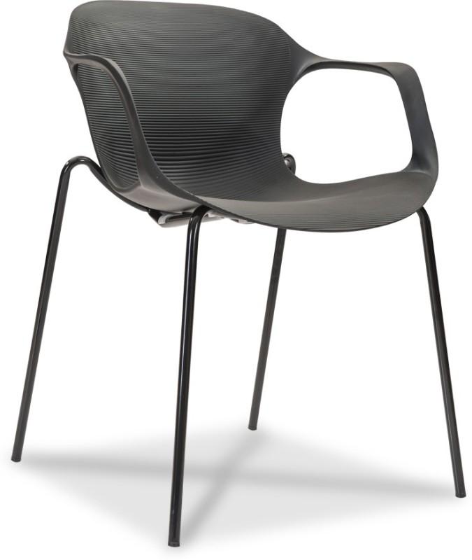 Durian ZANE-BLACK Synthetic Fiber Living Room Chair(Finish Color - Black)