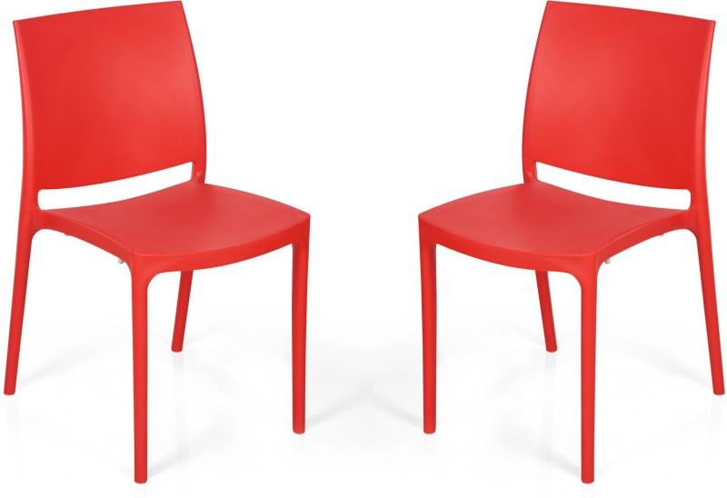 Nilkamal Plastic Living Room Chair(Finish Color - Red)