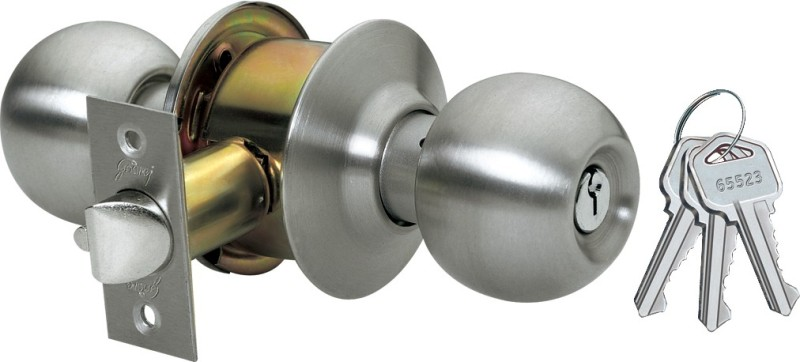 Godrej Cylindrical - Ss Finish - Premium Lock(Gold, Silver)