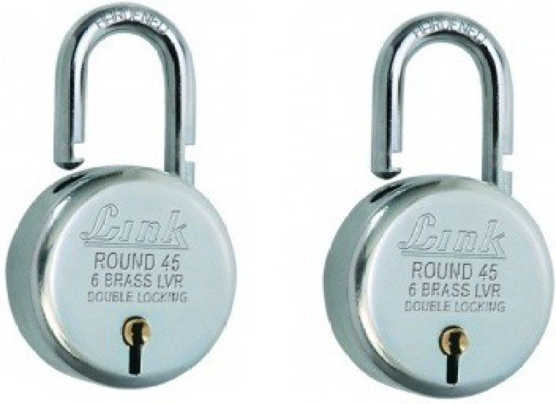 Link+ Round Bcp 45 (Pack of 2) Padlock(Silver)
