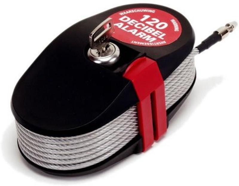 Lock Alarm Lock 6796 Cable Lock(Red, Black)
