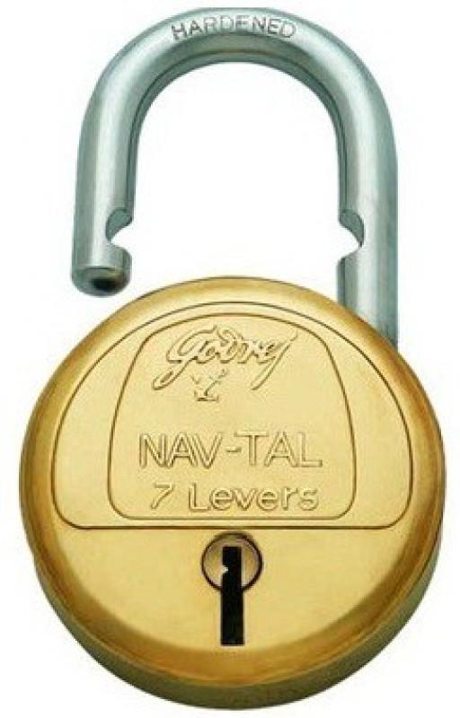Godrej Nav-Tal 7 Levers 4 Keys Padlock(Brass)