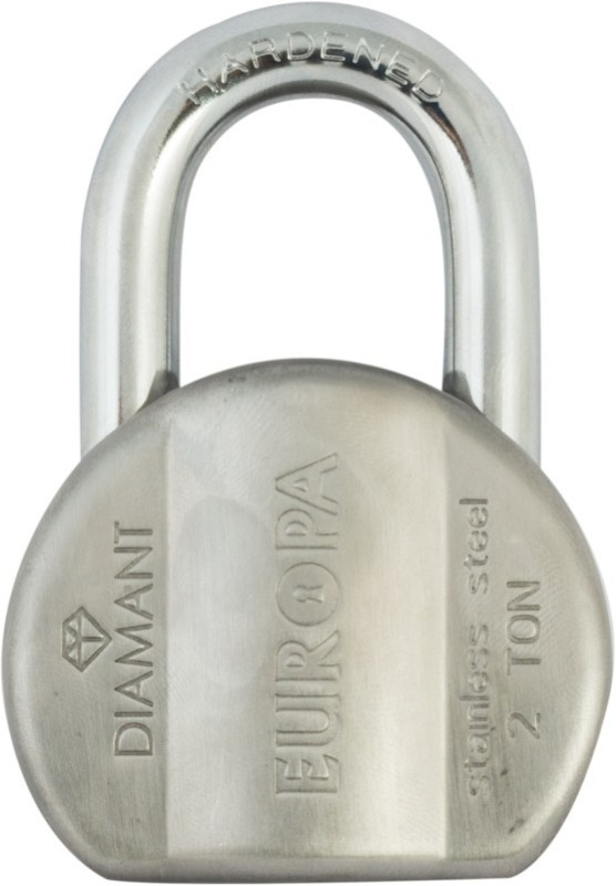 Europa Diamante Pad L365 Ss Padlock(Silver)