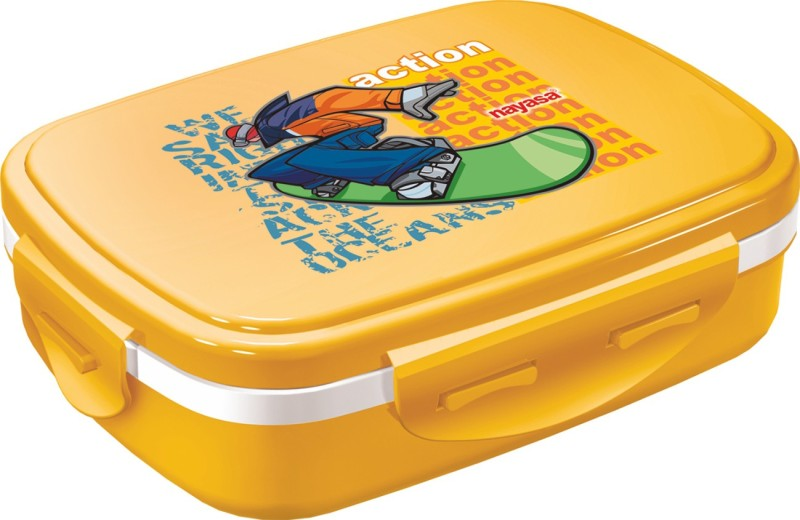 Nayasa Nutri Kids Yellow 1 Containers Lunch Box(450 ml)