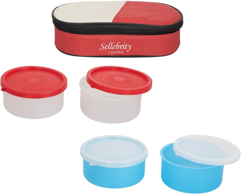 Sellebrity Economic 2 in 1 With 2 Boxes 4 Containers Lunch Box(800 ml)