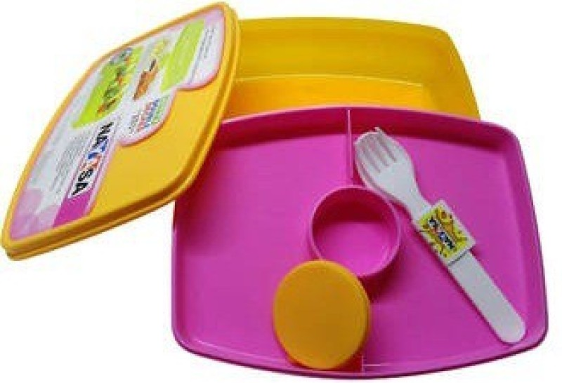 Nayasa Witty Double Decker 2 Containers Lunch Box(600 ml)