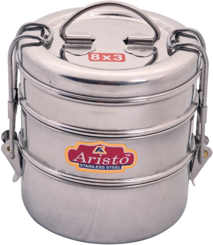 Aristo Tiffin 8X3 3 Containers Lunch Box(430 ml)