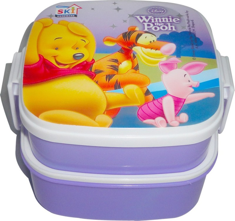 SKI Winnie the Pooh 2 Containers Lunch Box(750 ml)