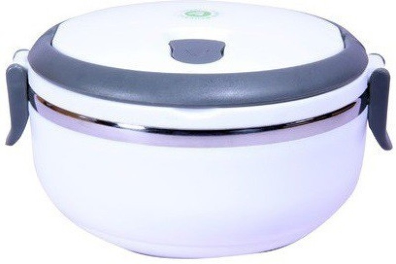 Homio Single Layer Round White 1 Containers Lunch Box(700 ml)