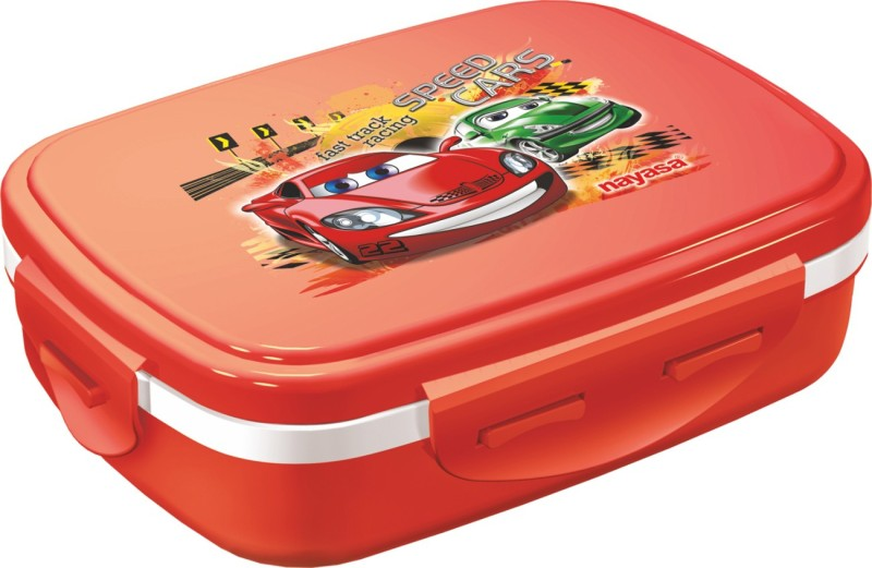 Nayasa Nutri Kids Red 1 Containers Lunch Box(450 ml)
