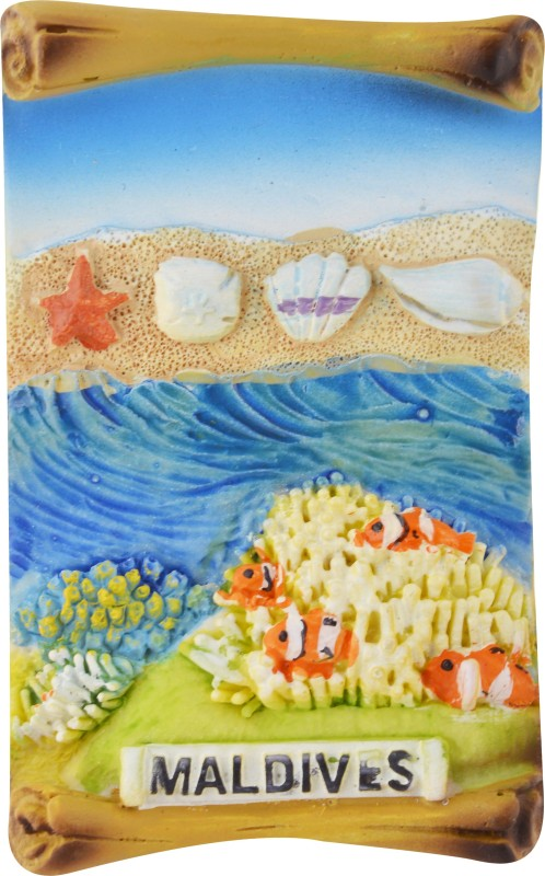 TEMPLE TREES Maldives Scroll Type Fridge Magnet Pack of 1(Multicolor)