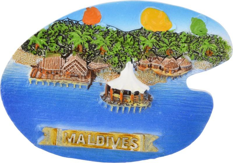 TEMPLE TREES Maldives Pallete Type Fridge Magnet Pack of 1(Multicolor)