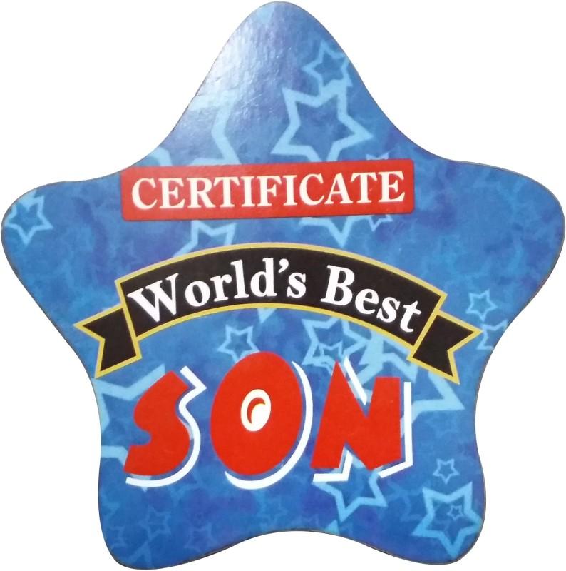 Fabionic Certificate World's Best Son Fridge Magnet Pack of 1