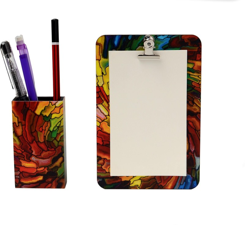 My Own Swirl Stain Glass Magnetic Note Pads Pack of 2(Multicolor)