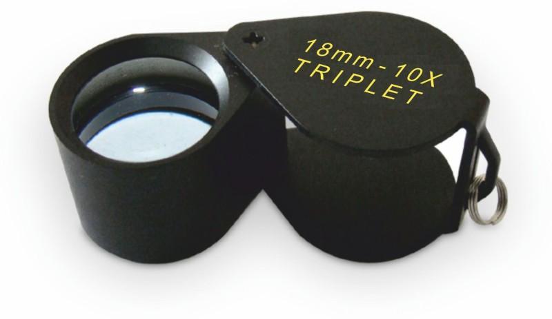 United Industries Achromatic Triplet Lens 10X Jewelers Loupe(Black)