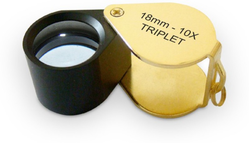 United Industries Achromatic Triplet Lens 10X Jewelers Loupe(Gold)