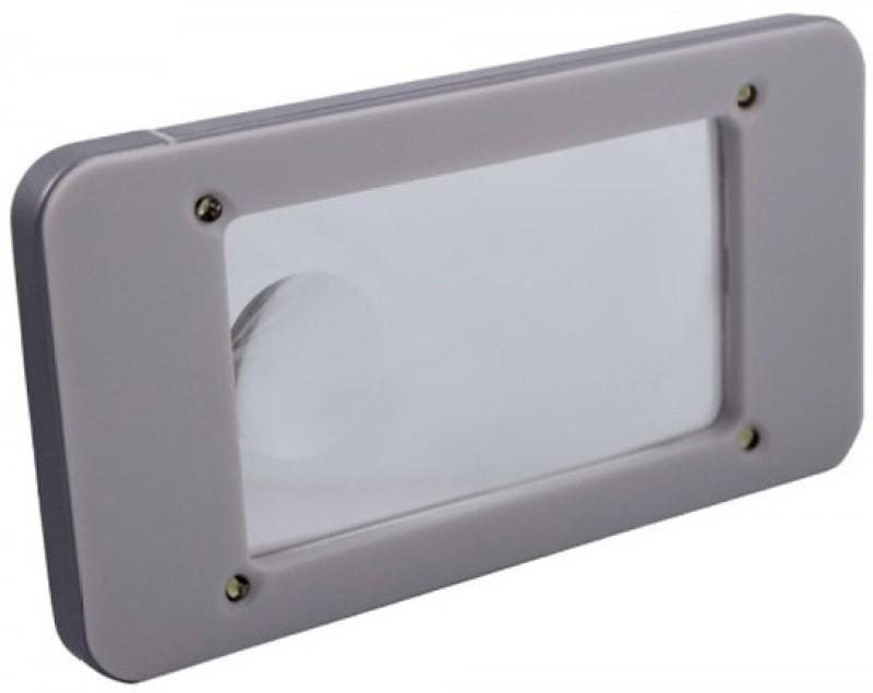 Pia International iPhone Shape 4LED 2.25X Magnifying Glass(White)
