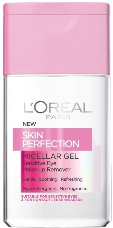 LOreal Paris Skin Perfection Micellar Eye Make Up Remover Gel Makeup Remover(124 ml)