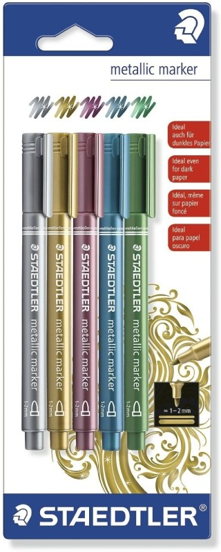 Staedtler Metallic Marker(Set of 5, Assorted)