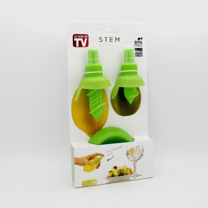 Stem Plastic Masher(Green, Pack of 3)